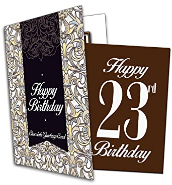 Happy 23rd birthday chocolate greeting card amazon grocery happy 23rd birthday chocolate greeting card m4hsunfo