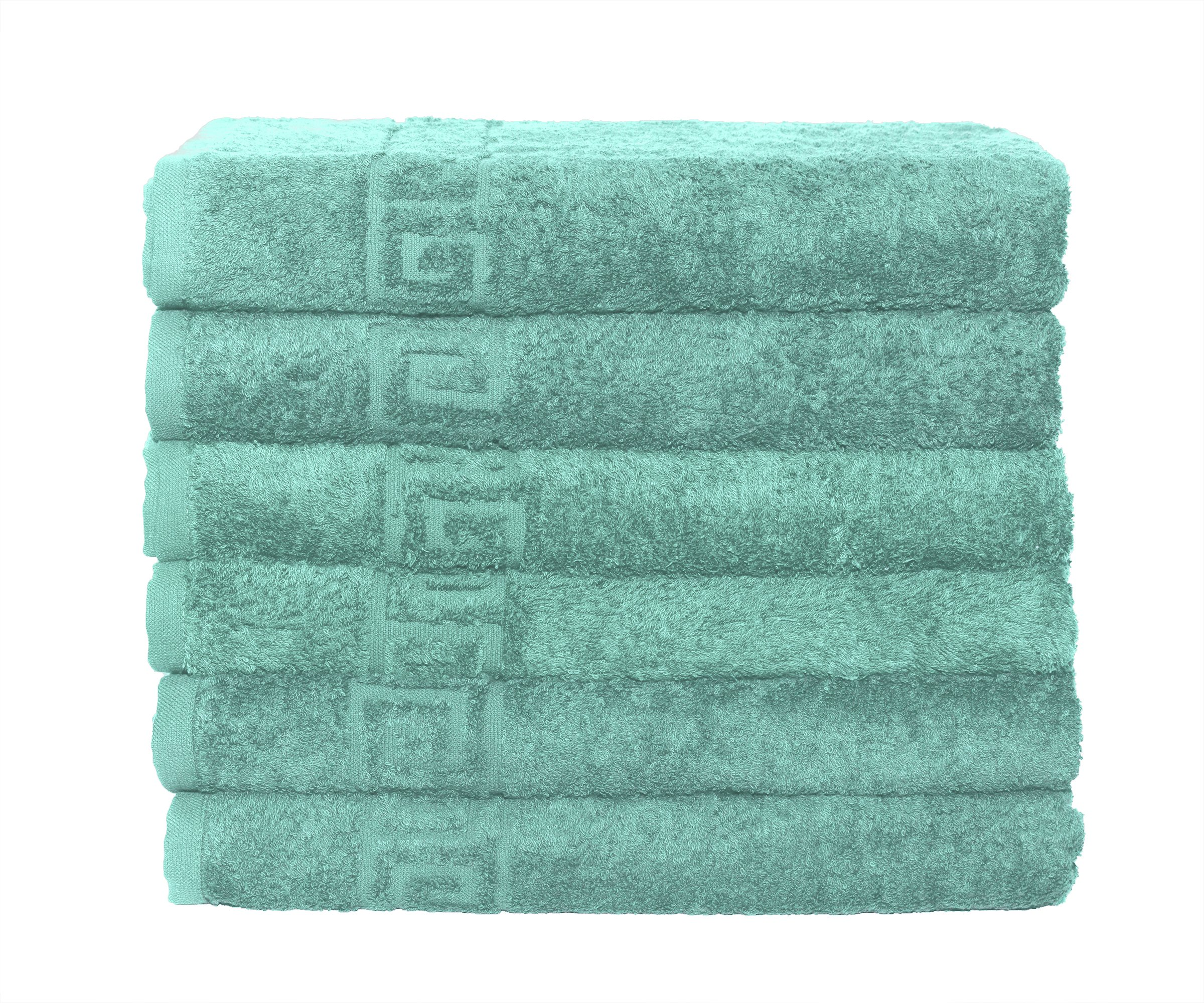 Msrugs Hand Towels for Bathroom - 100% cotton - Soft/Luxury - Perfect Bath Hand Towel/Hotel Hand towels/Spa Hand Towels/Kitchen Hand towels/Golf Hand towel/Tropical Hand tow (6, Turquoise)