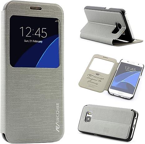 Smartphone móvil Carcasa Funda Samsung Galaxy S6 View Flip Cover ...