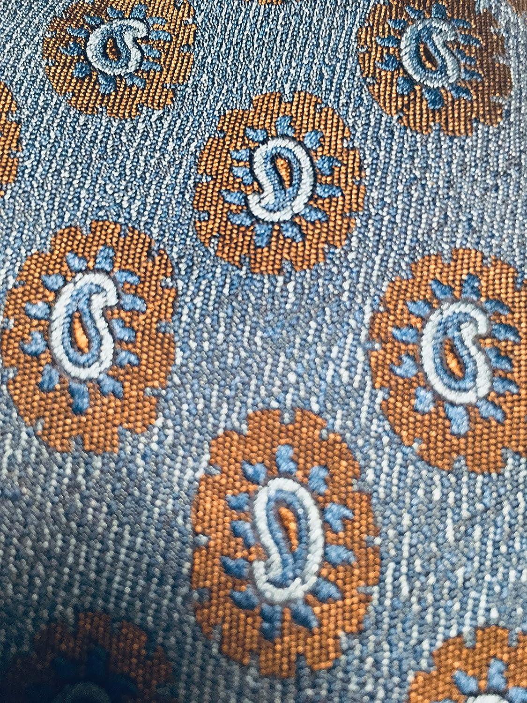 New Mens Canali Blue Paisley Motif Italian Silk Tie