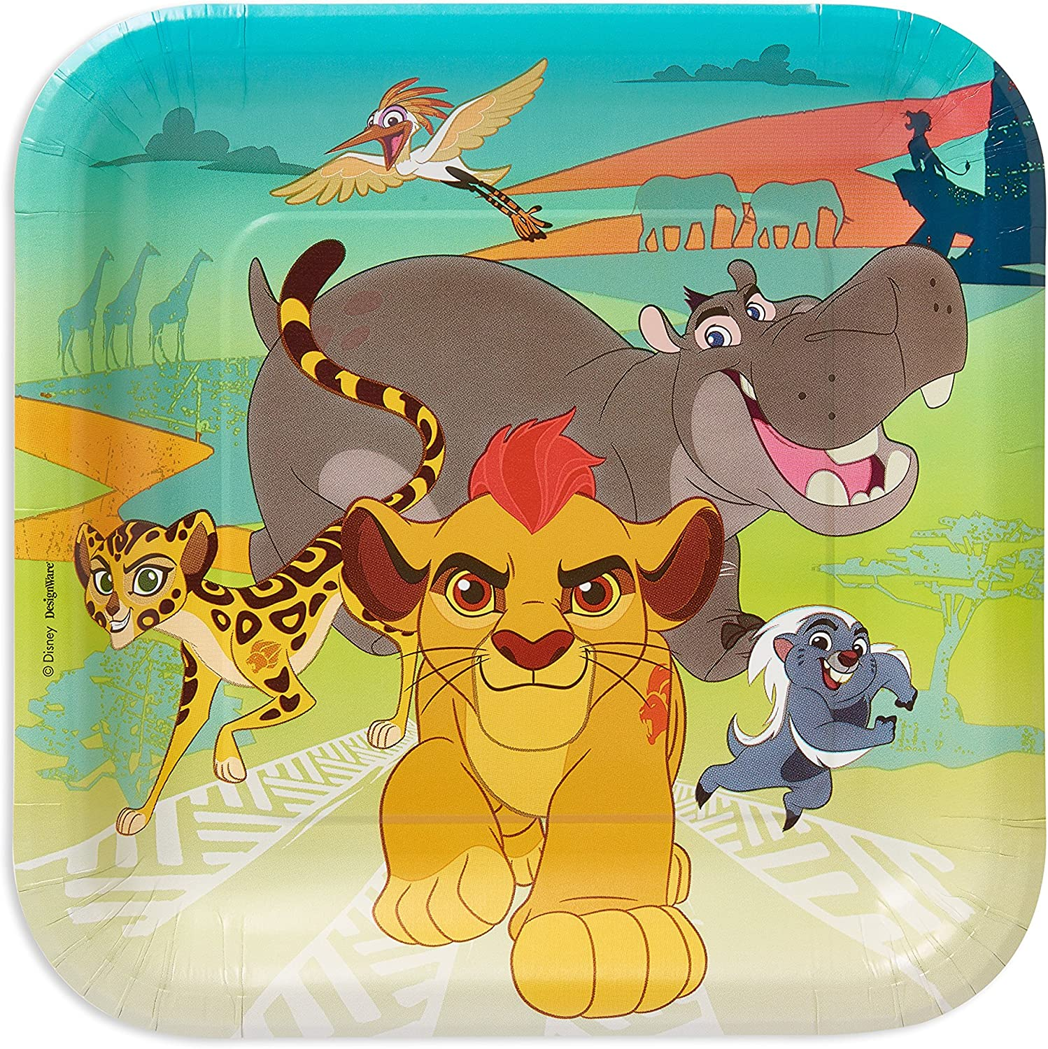 American Greetings Lion Guard Paper Dinner Plates, 8-Count