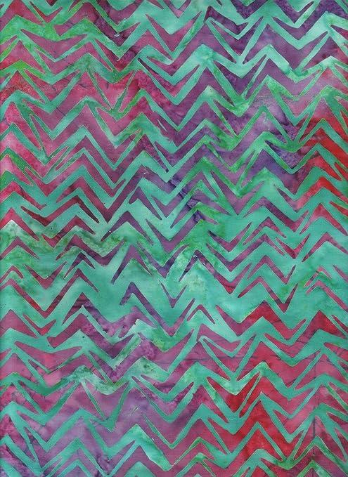 Purple Batik Aqua 100/% Cotton Fabric Pink Teal