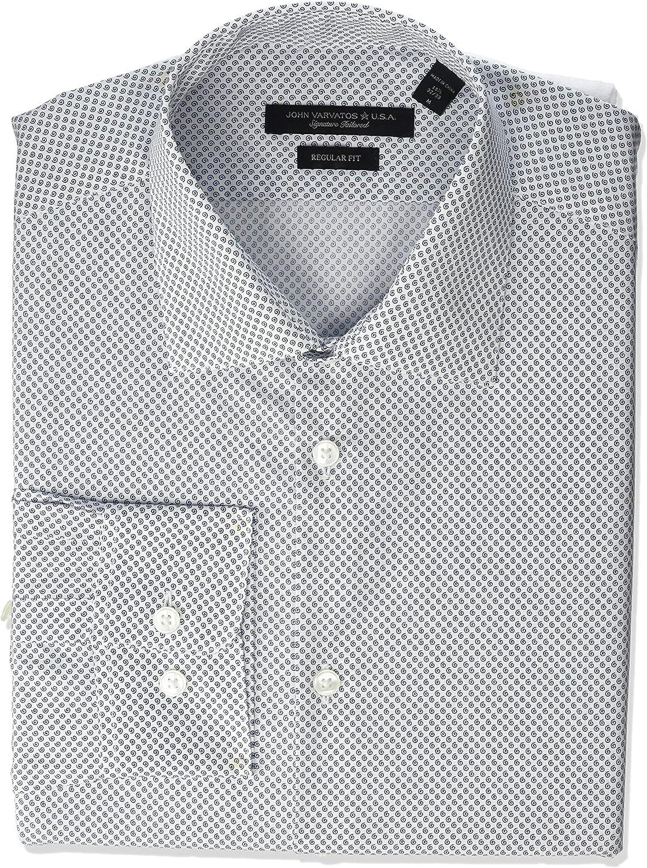 John Varvatos Star USA Men's Spencer Regular Fit Long Sleeve Button Down Dress Shirt