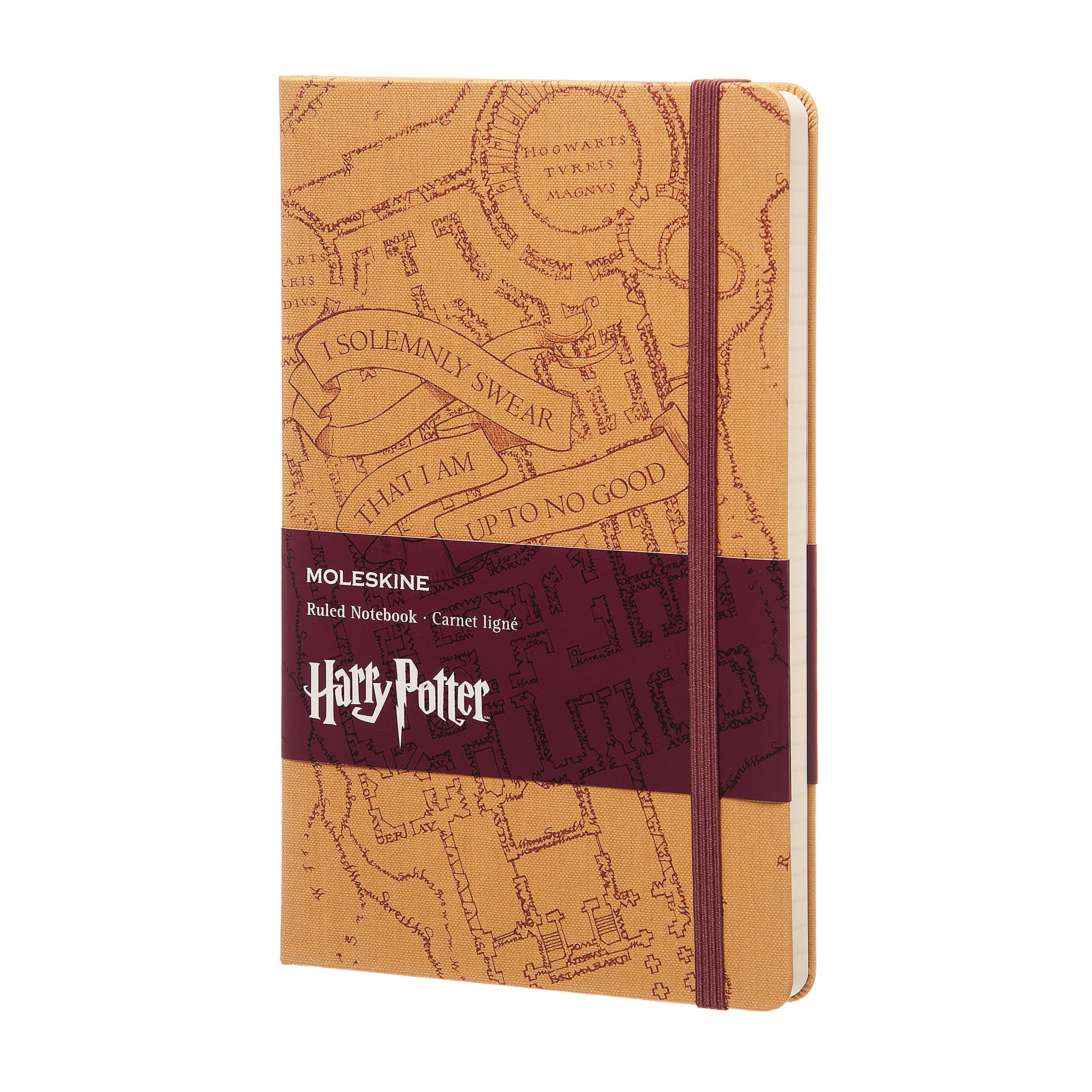 Moleskine Limited Edition Harry Potter Notebook, Hard Cover, Large (5'' x 8.25'') Ruled/Lined