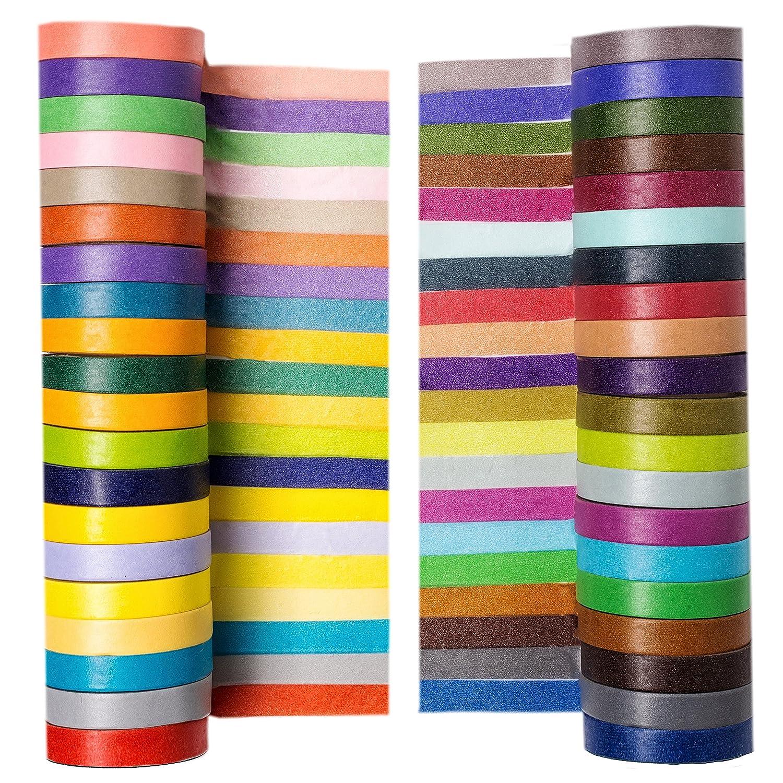 "40 Rolls Washi Tape Set Decorative Masking DIY Tapes Set 0.3/"" W x 13ft L"
