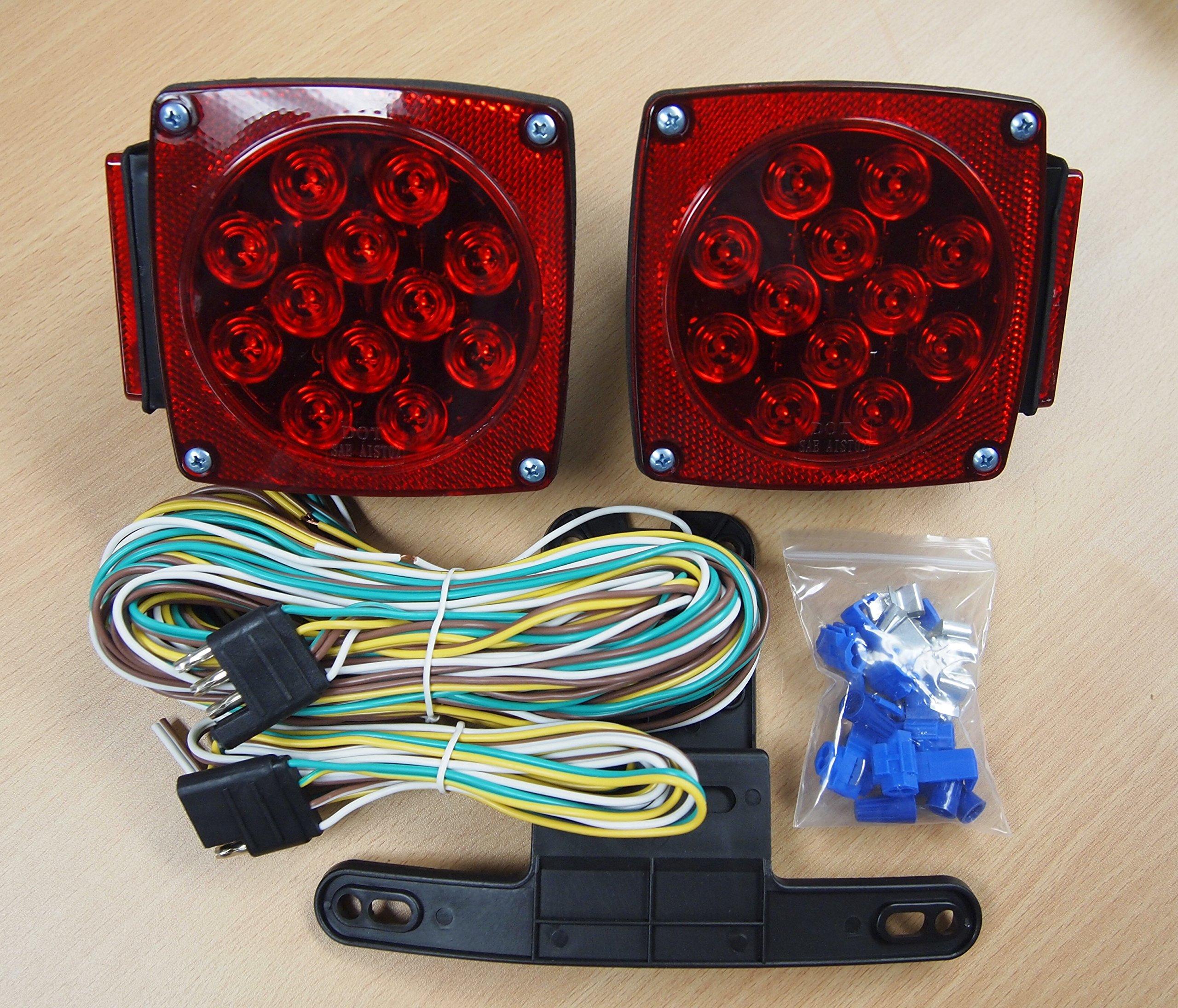 Eaglestar 12V LED Trailer Light Kit Multi-Function Tail Lights Submersible DOT by Eaglestar