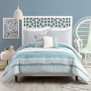 Jessica Simpson Bonnie Comforter Set, King, Blue