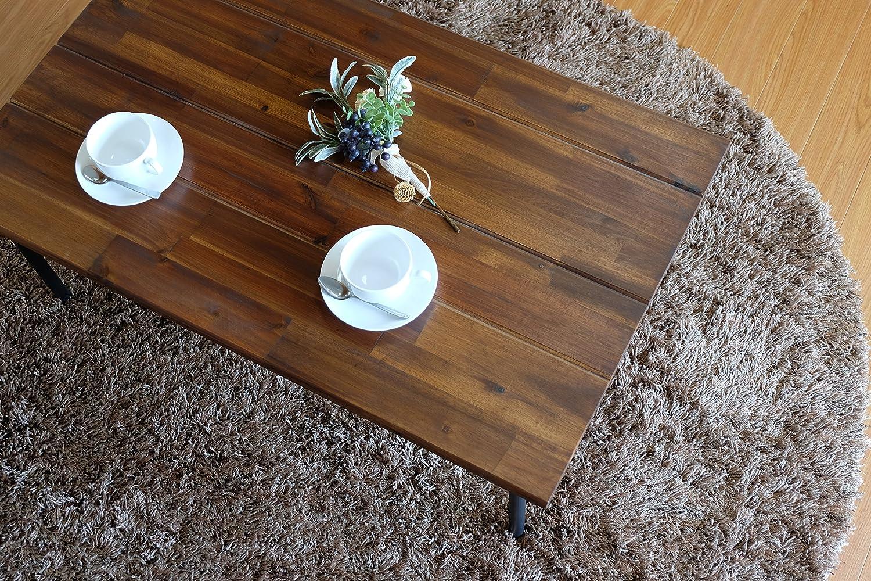 ISSEIKI 【アンティーク調お洒落テーブル】 CENTER TABLE センターテーブル ミディアムブラウン 幅90×54.5cm 高品質 コーヒー ビンテージ オシャレ 人気 木製家具 LITTLE CENTER TABLE 90 (MBR-PU) B013QDZ2F0 Parent