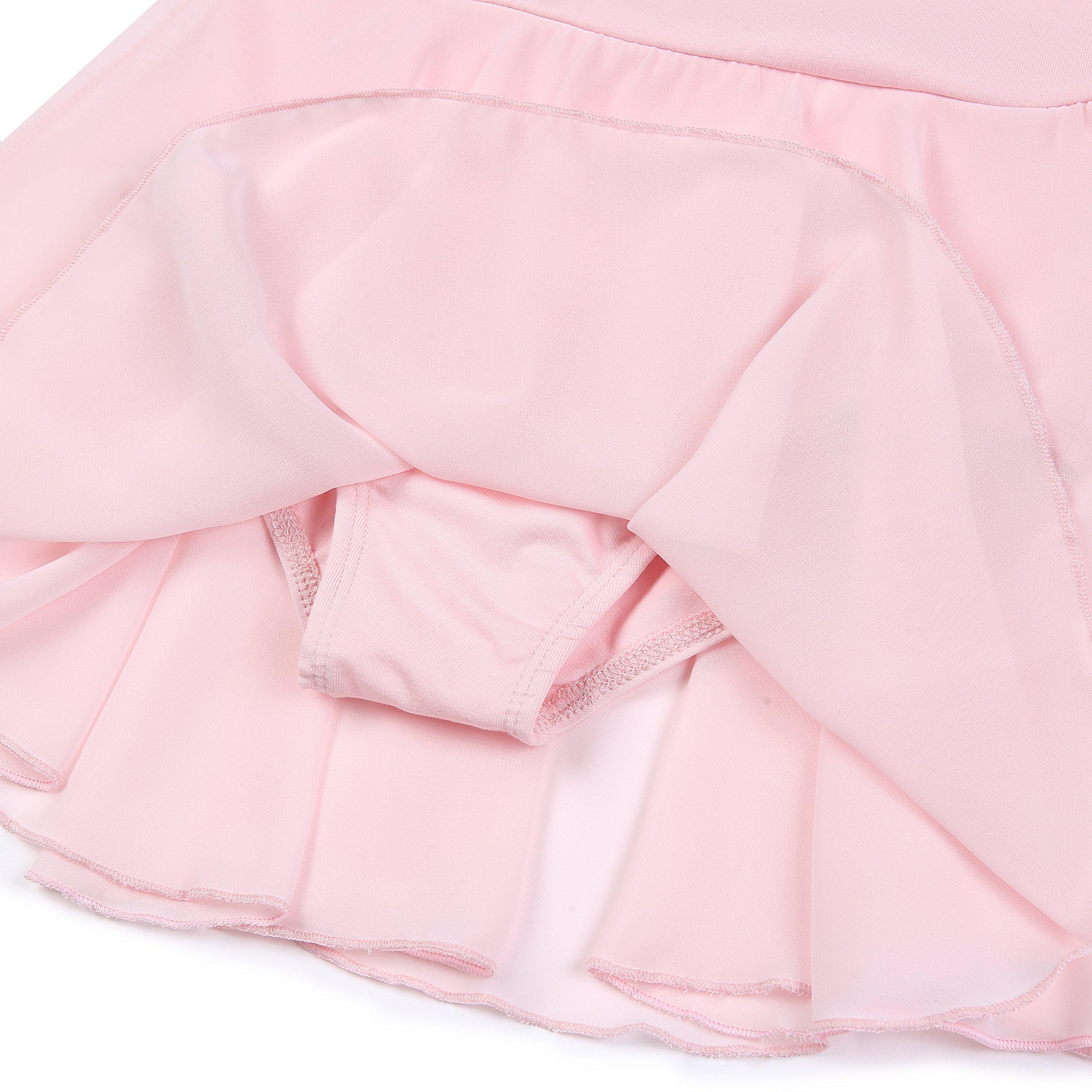 405c09bd51fe9 STELLE Girls' Ruffle Short Sleeve Tutu Skirted Ballet Dress Leotard for  Dance ...