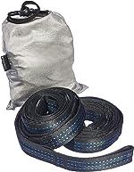 Amazon Basics Lightweight Extra-Strong Nylon Double Camping Hammock Straps - Black