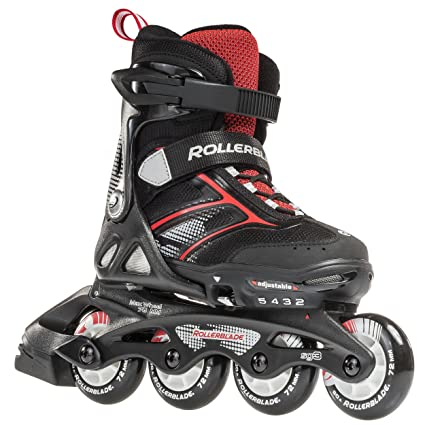 55a57fc9 Rollerblade Spitfire JR XT 2016 Kids Skate, Black/Red, Adjustable (5 to