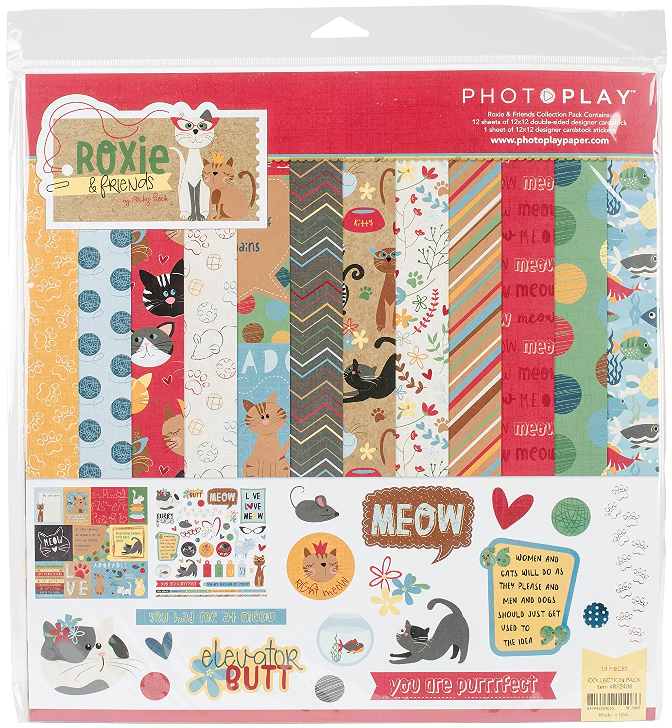 Photo Play Collection Pack 12X12-Roxie & Friends Photo Play Paper RF2408N