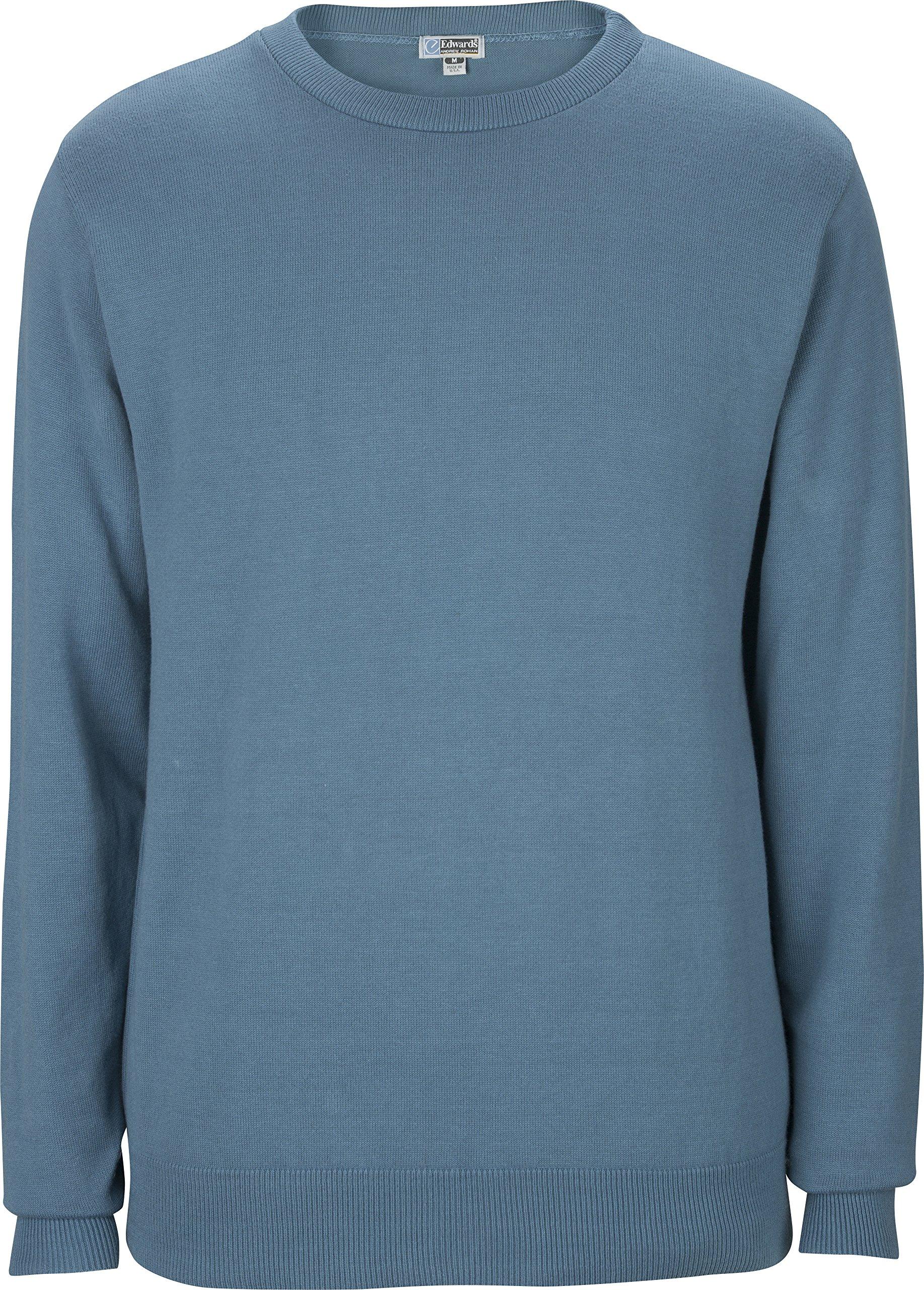 Averill's Sharper Uniforms Unisex Cotton Blend Crew Neck Sweater Medium Slate Blue