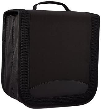 AmazonBasics - Funda de nailon para CD/DVD (capacidad para 128 discos), color negro