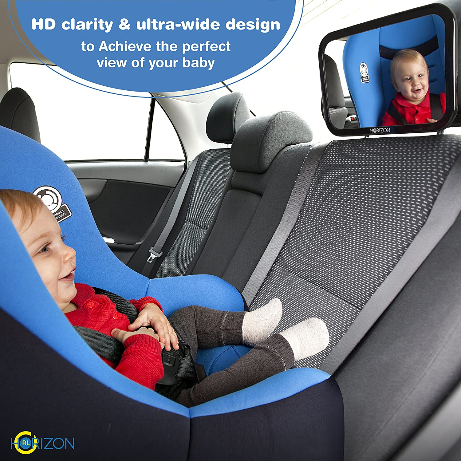 Premium Infant Carseat Mirror Baby On Board Sign View Backseat Without Risk Headrest