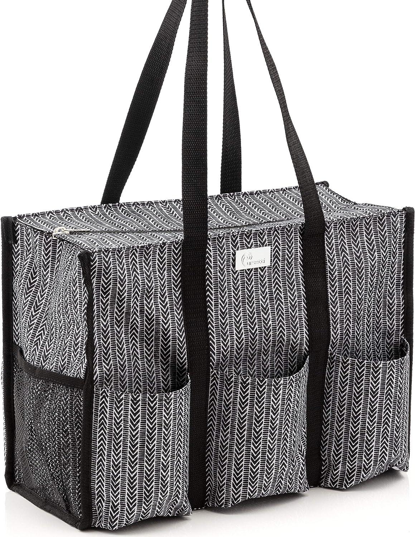 Neutral Zipper Bag Herringbone Zip Pouch Gift for Her Gift for Grandma Travel bag Neutral Zip Bag Monogram Zipper Pouch