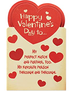 Amazon valentine card husbandfor my husbandhallmark ea american greetings perfect match valentines day card for husband with attachments m4hsunfo