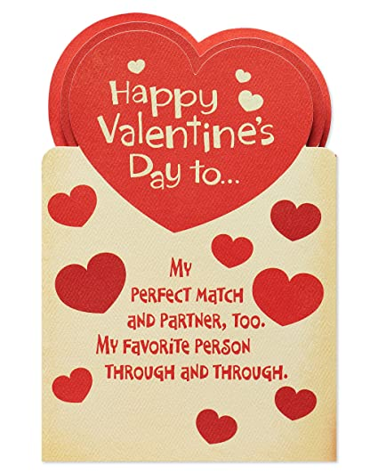 Amazon american greetings perfect match valentines day card american greetings perfect match valentines day card for husband with attachments m4hsunfo