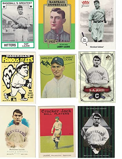 Nap Lajoie 15 Different Baseball Cards Featuring Nap