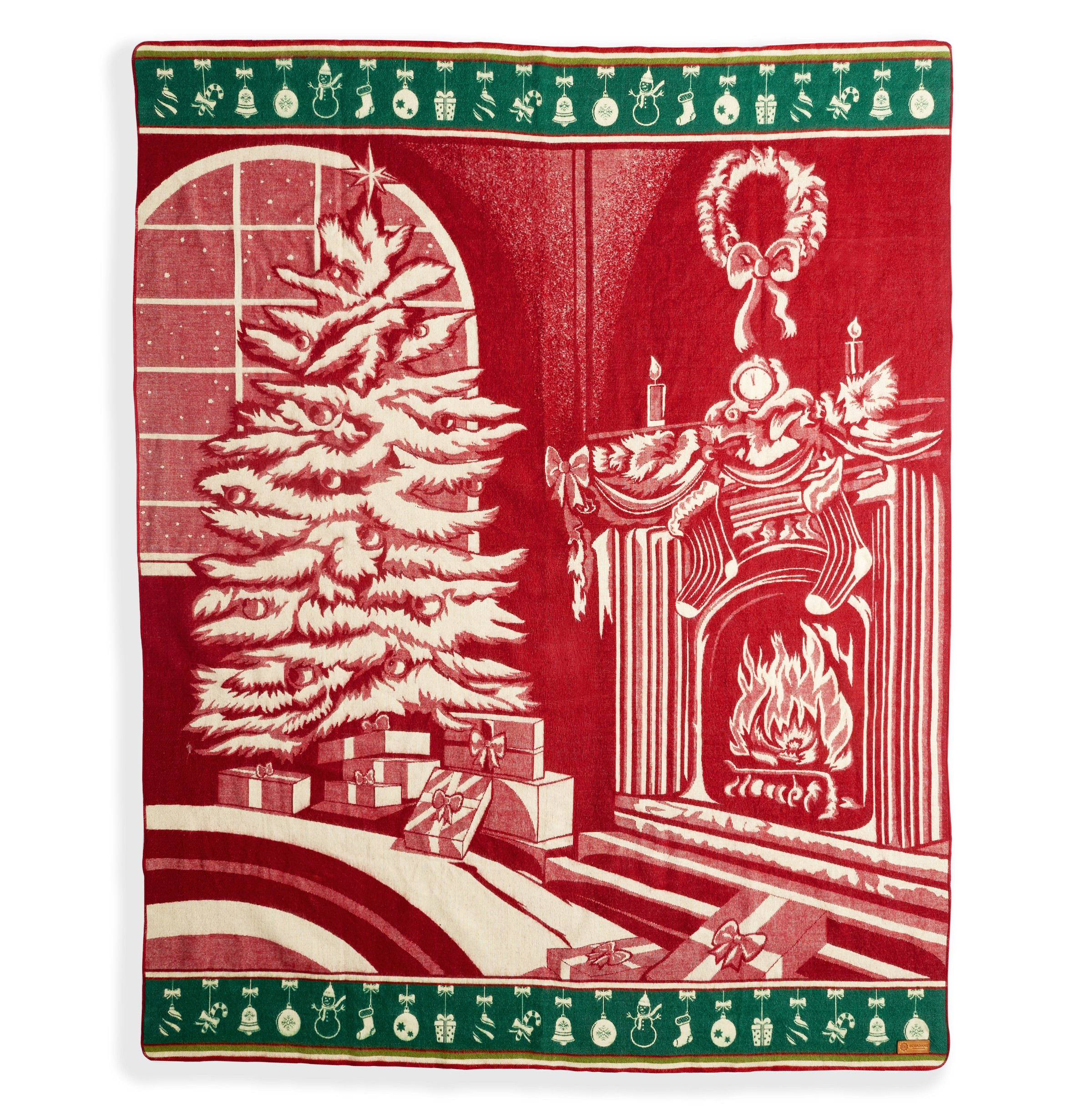 """Ecuadane Southwestern Christmas Large Woven blanket made in Ecuador 82"""" x 93"""""""