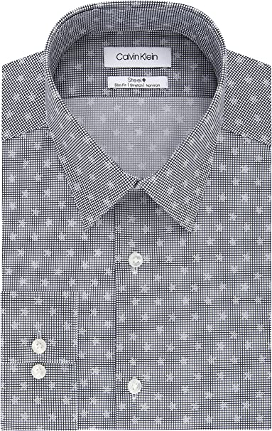 Calvin Klein Camisa de vestir para hombre, ajustada, no necesita ...