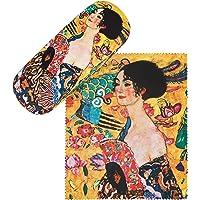 von Lilienfeld Estuche Gafas Mujer con abanico de Gustav Klimt Funda Ligeramente Estable Colorido Paño de limpieza