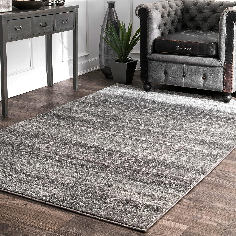 nuLOOM Moroccan Blythe Area Rug, 8' x 10', Dark Grey