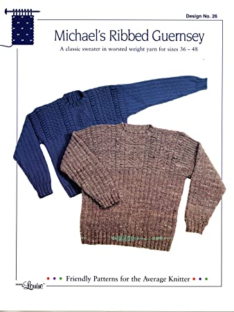 Amazon Design By Louise Knitting Pattern 39 Michaels Ribbed