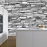 Hanmero murales de pared papel pintado imitaci n ladrillo for Papel imitacion piedra barato