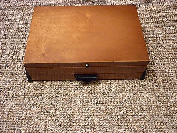Caja costurero de madera Shabby Chic Vintage rústico de coser caja de metal: Amazon.es: Hogar