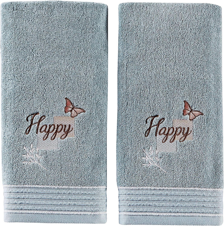 SKL Home by Saturday Knight Ltd. New Hope 2-Piece Hand Towel Set, Aqua