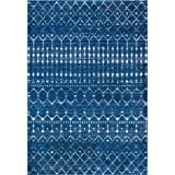 "nuLOOM Moroccan Blythe Area Rug, 8' 10"" x 12', Blue"
