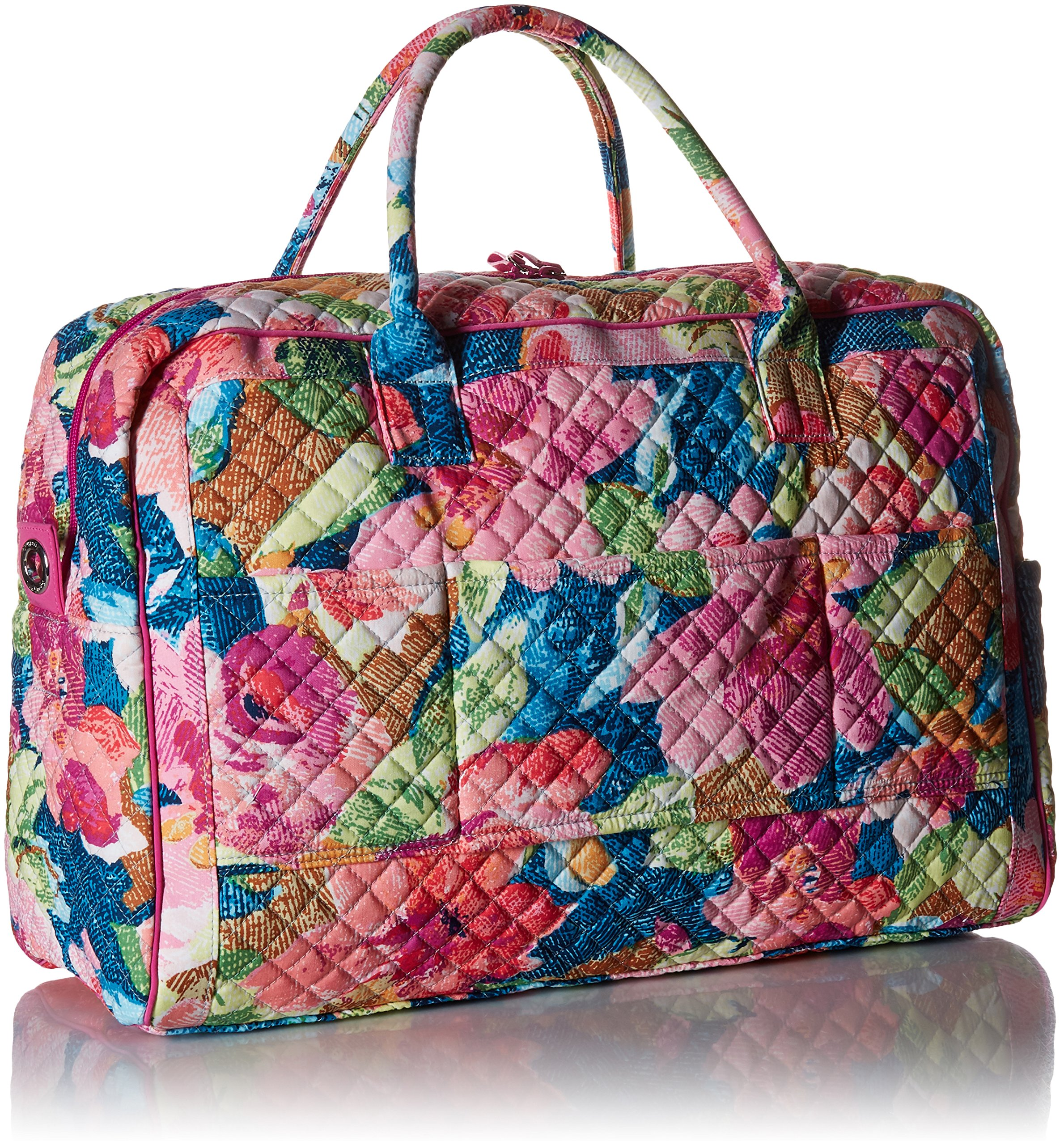 Vera Bradley Iconic Weekender Travel Bag, Signature Cotton, Superbloom by Vera Bradley (Image #3)