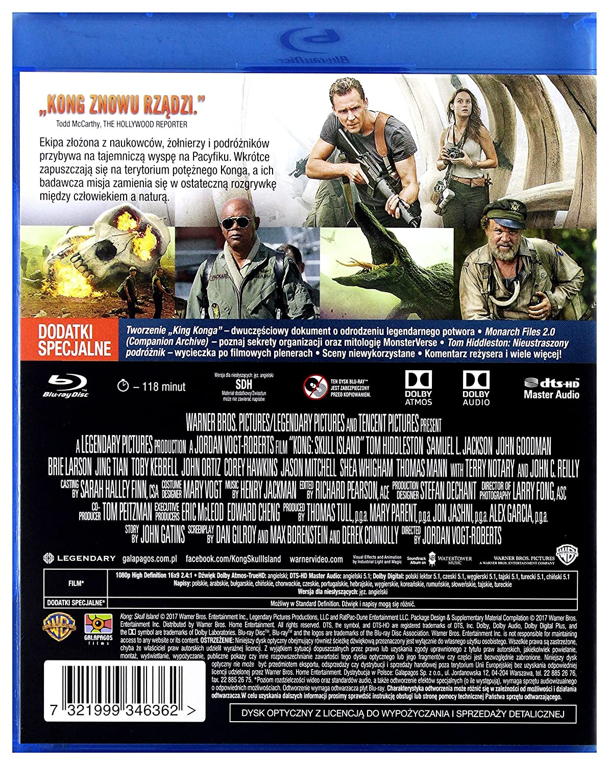 Amazon.com: Kong: Skull Island [Blu-Ray] (English audio. English subtitles): Tom Hiddleston, Toby Kebbell, Brie Larson, Samuel L. Jackson, John Goodman, ...