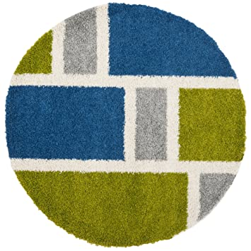 Perfect Safavieh Art Shag Collection SG911 6552 Blue And Green Round Area Rug (5u0027