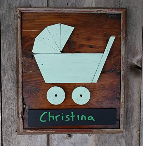 Amazon.com: Baby Carriage Name Plate for Child\'s Door ...