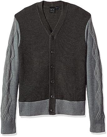 419d62d4b Amazon.com: A|X Armani Exchange Men's Multi Knit Shawl Collar ...