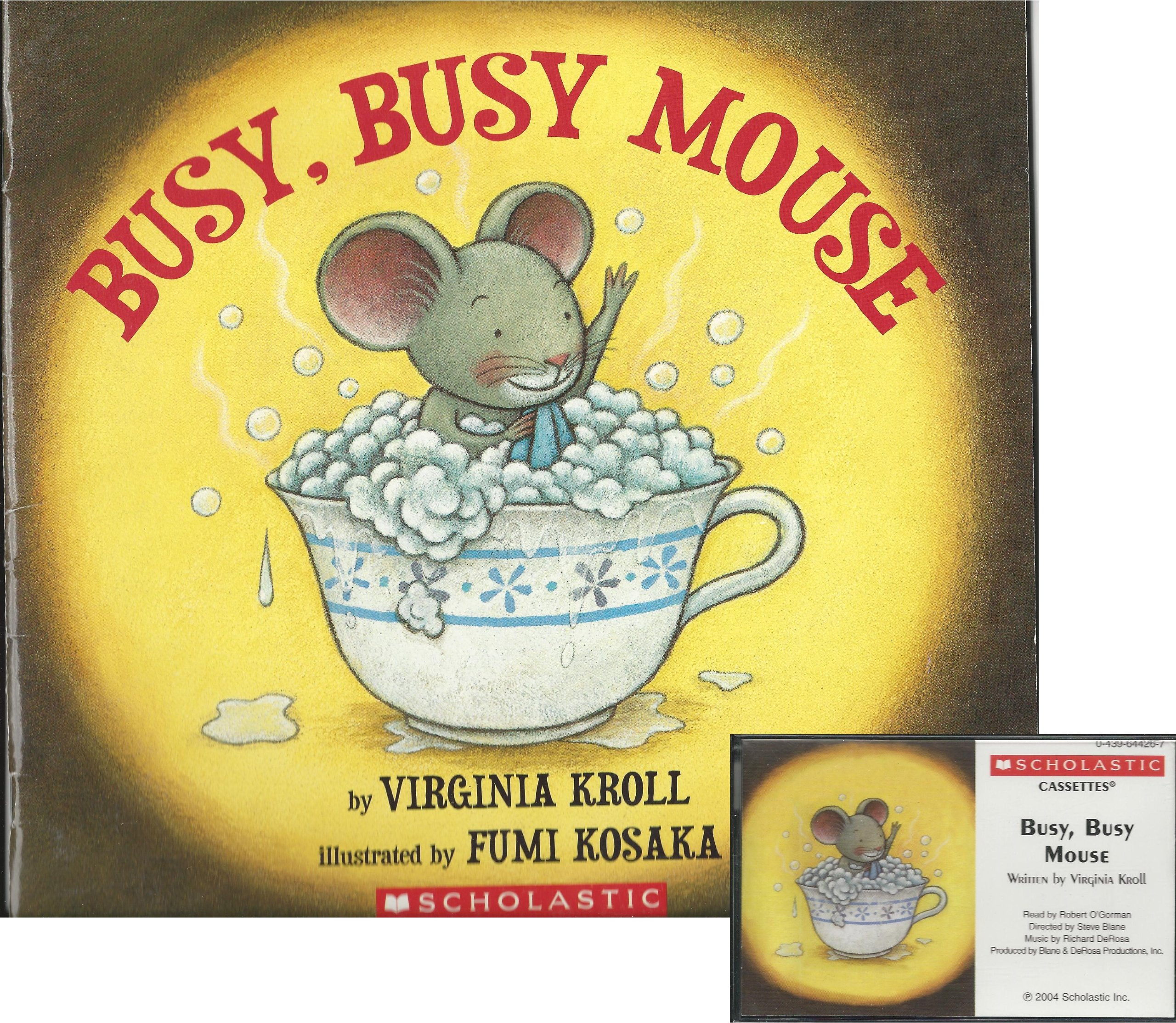 Busy, Busy Mouse Book and Audiocassette Tape Set (Paperback Book and Audio  Cassette Tape): Virginia Kroll, Fumi Kosaka, Robert O'Gorman: Amazon.com:  Books