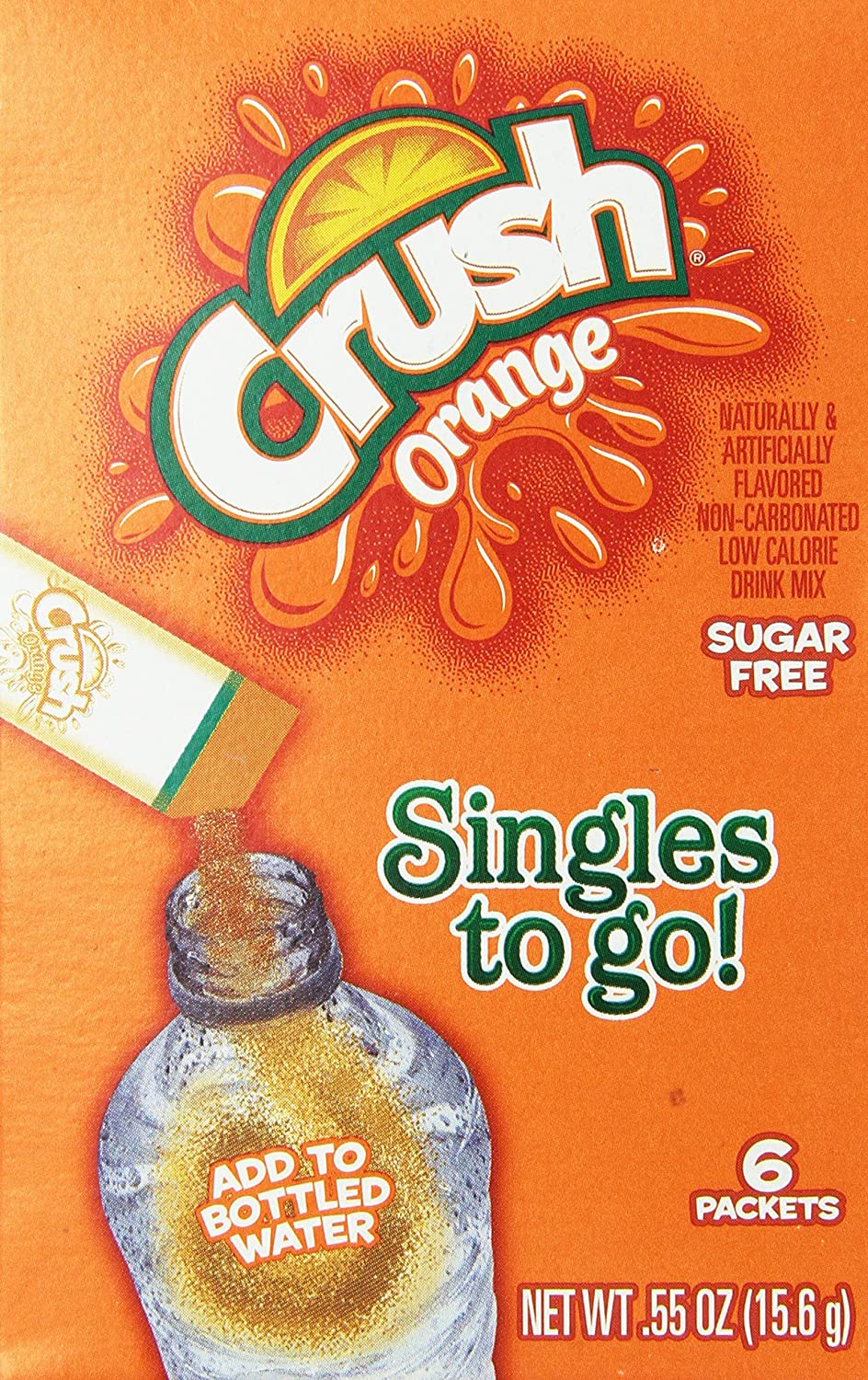 Pop fruit crush - Amazon Com Orange Crush Sugar Free Singles To Go 6 Packets New Just Add To Water Bottle Powdered Soft Drink Mixes Grocery Gourmet Food