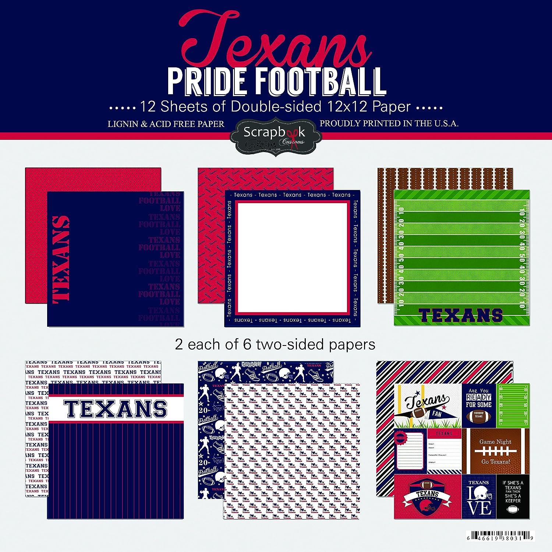 Scrapbook Customs Texans Pride Football Kit
