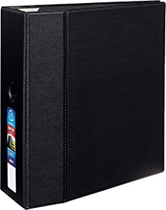 Avery Heavy-Duty Binder with 5-Inch One Touch EZD Ring, Black (79986)
