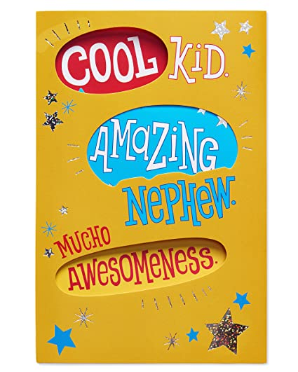 Amazon American Greetings Cool Kid Birthday Card For Nephew