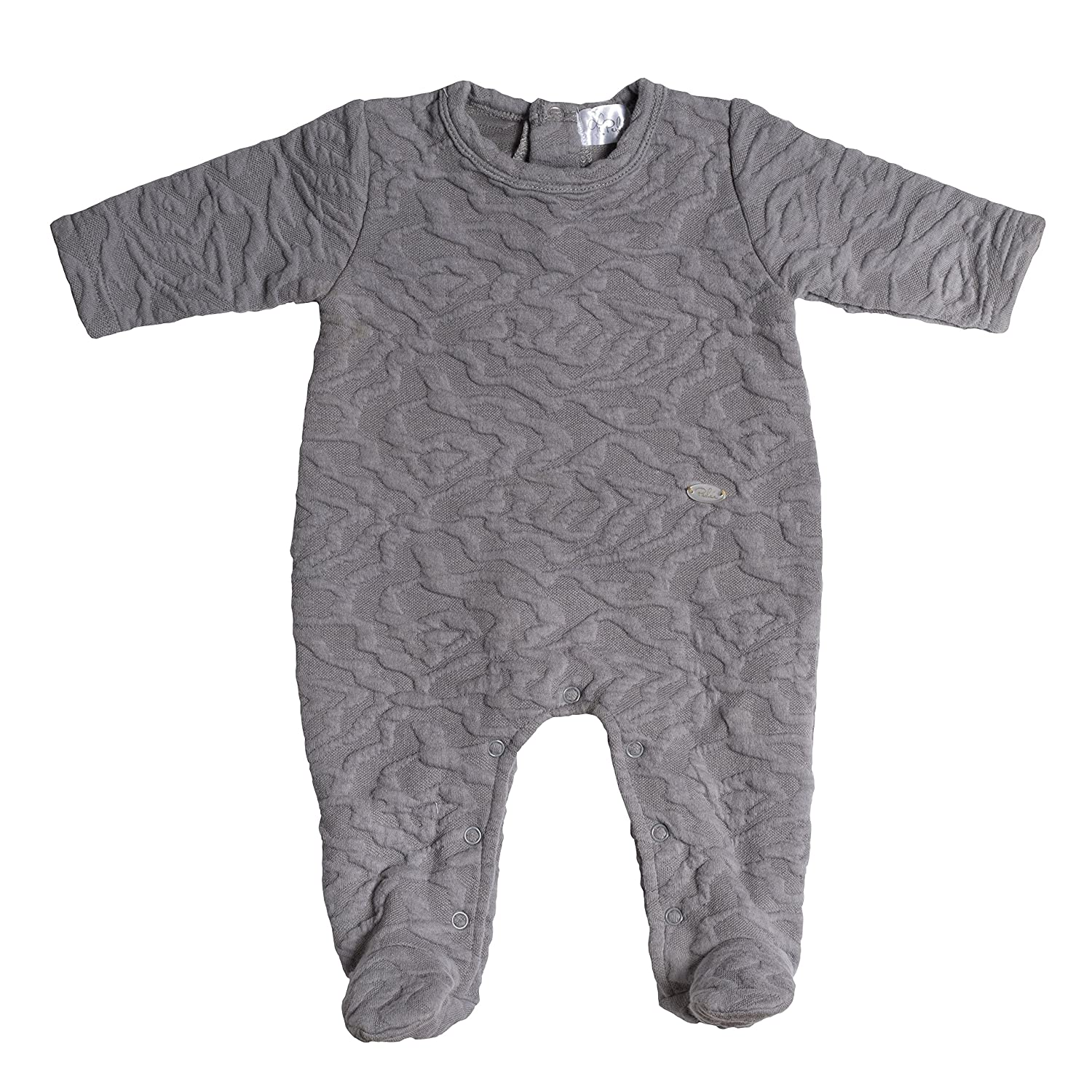 Jack /& Jill Textured Cotton Grey Footie