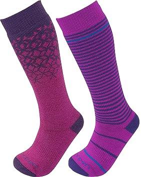 Lorpen Merino calcetines de esquí para niños (2 paquetes), Unisex, frutas del bosque: Amazon.es: Deportes y aire libre