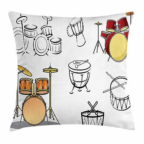 Amazon.com: Lunarable - Funda de cojín para tambores (diseño ...