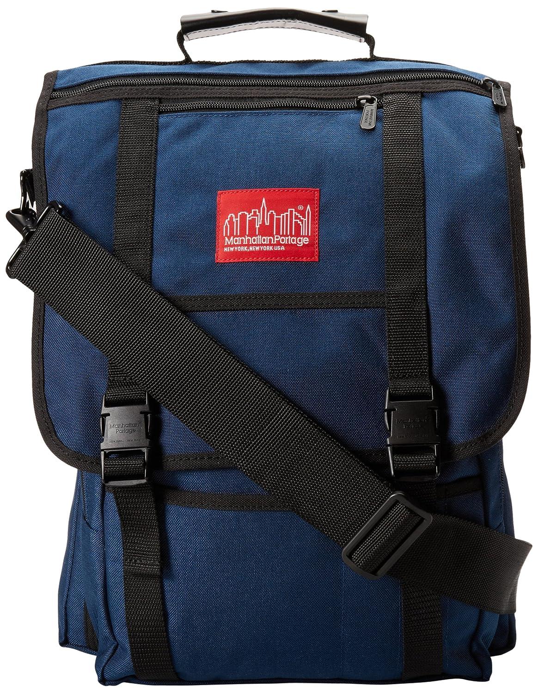 One Size Navy Manhattan Portage Commuter Laptop Bag with Back Zipper