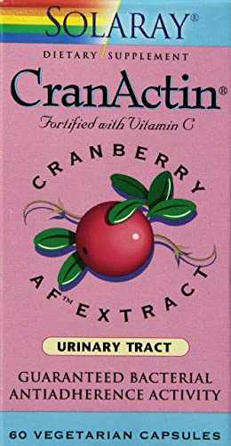 Solaray Cranactin Cranberry AF Extract Capsules, 400 mg, 60 Count
