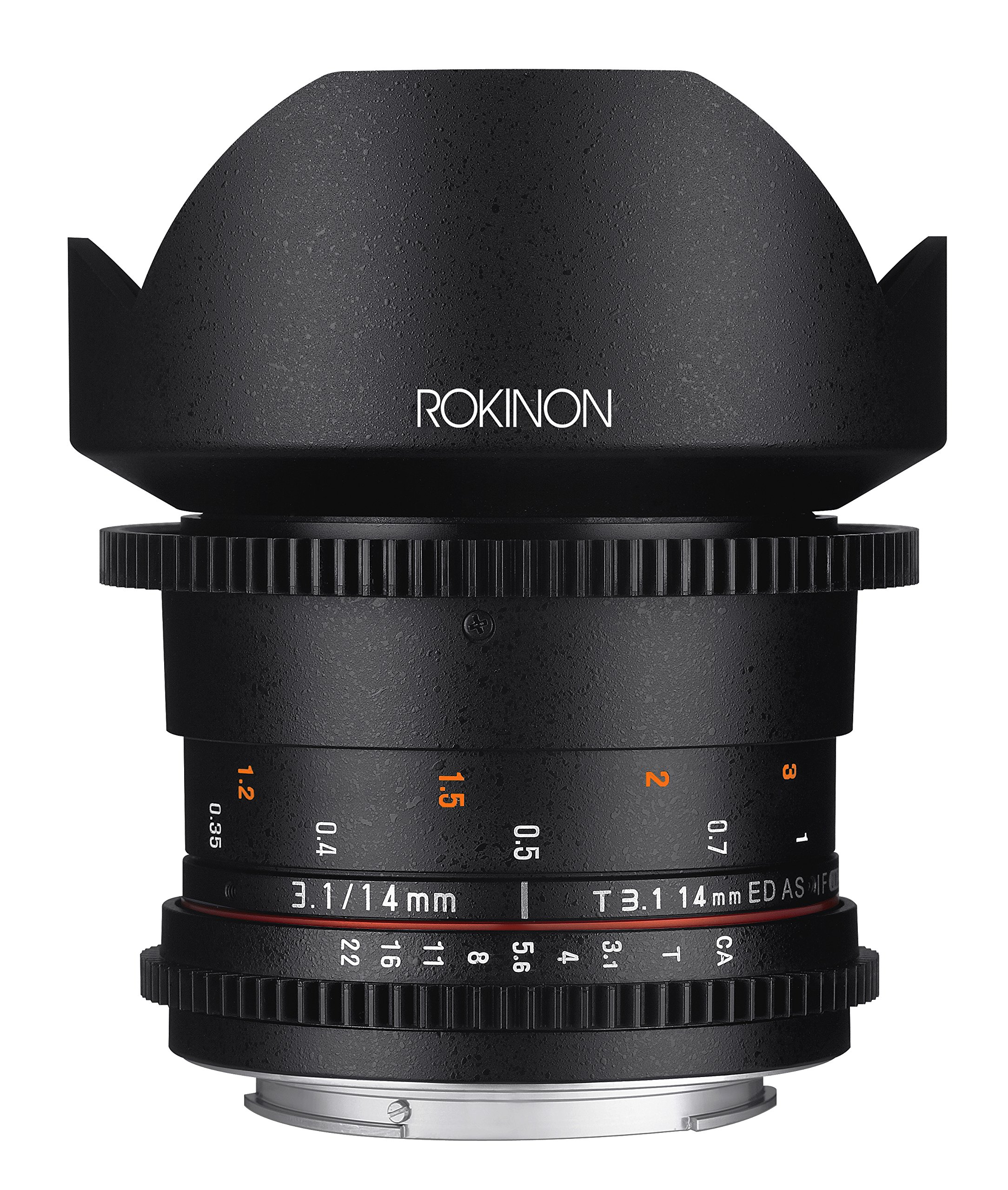 Rokinon Cine DS DS14M-MFT 14mm T3.1 ED AS IF UMC Full Frame Cine Wide Angle Lens for Olympus and Panasonic Micro Four Thirds by Rokinon