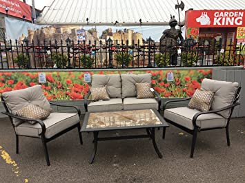 Belvedere Patio Furniture Set, Sofa, Armchairs, Table,