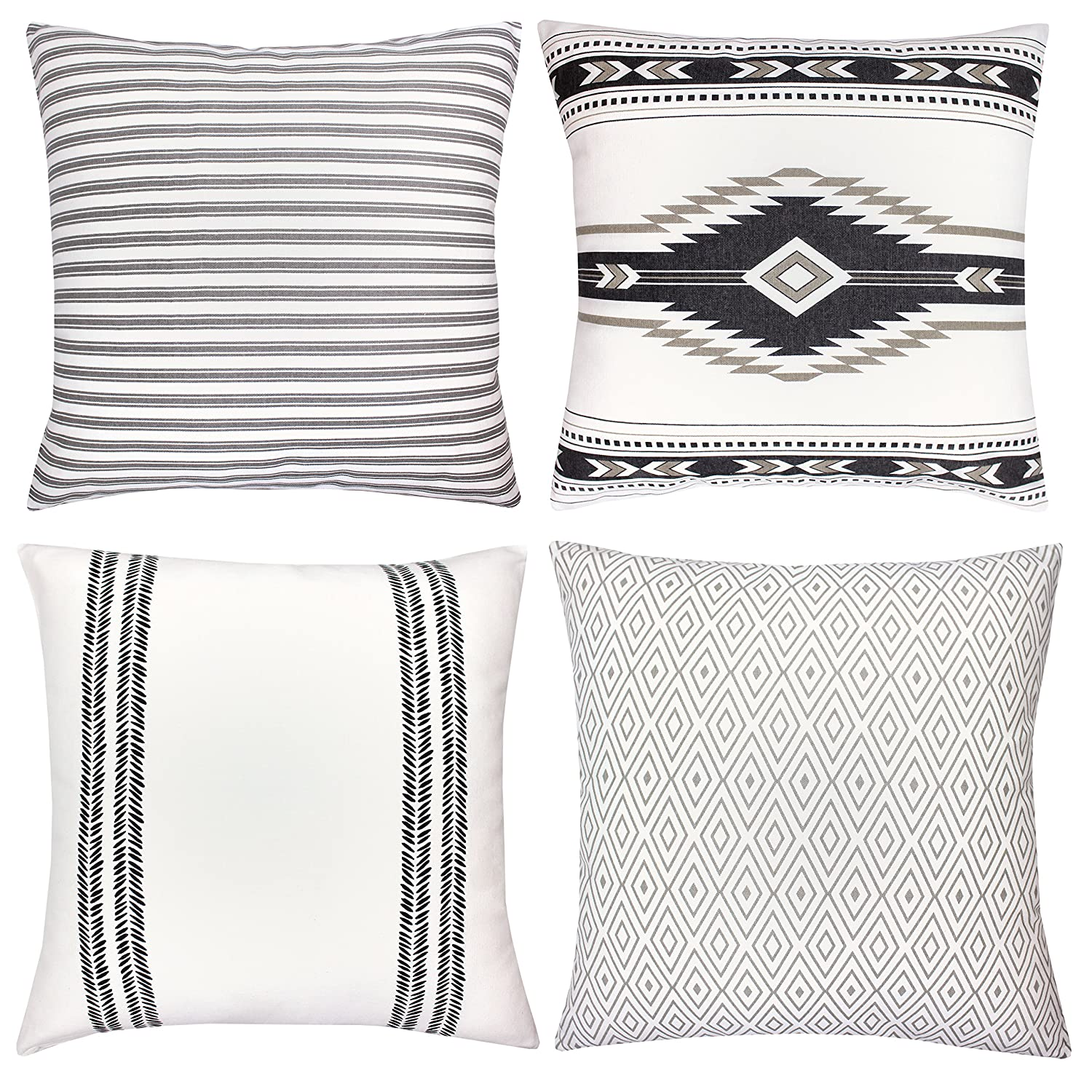 Amazon.com: Woven Nook Decorative Throw Pillow Covers ONLY for Couch ...